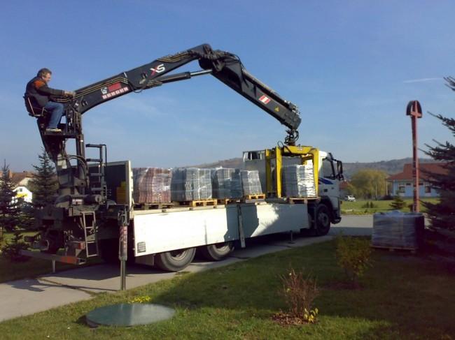 odvoz tovaru psmat hydraulická ruka